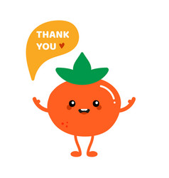 persimmon character saying thank you vector image