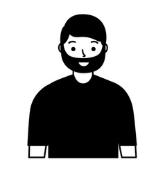 portrait man character on white background vector image