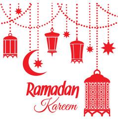 Ramadan kareem lantern lamps vector