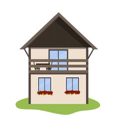 scandinavian house icon vector image