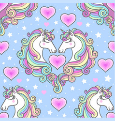 seamless patternenergy and pink heart on a blue vector image