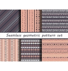 Seamless tribal texture set vector image