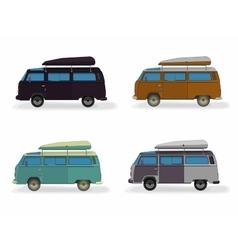 Set minibus isolated on white vector image