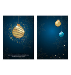 set of party poster merry christmas holiday club vector image