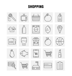 Shopping line icon for web print and mobile uxui vector