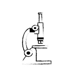 Sketch microscope laboratory test sample science vector