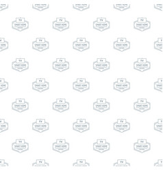 smart house pattern seamless vector image