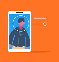 Smartphone application man face identification vector