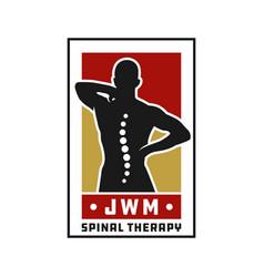 spinal health logo design vector image