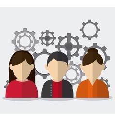 Teamwork icons design vector
