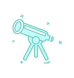 telescope icon design vector image