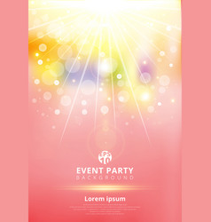 template colorful party light shining from the vector image