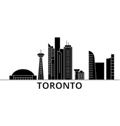 Toronto architecture city skyline travel vector