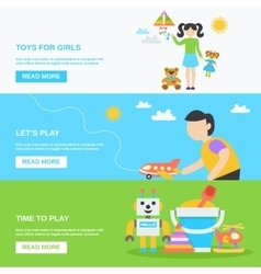 Toys Banner Set vector