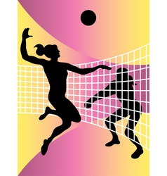 volleyball women vector image
