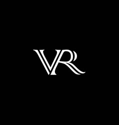 Vr or rv logo and icon designs with black or vector