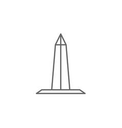 Washington monument obelisk outline icon elements vector