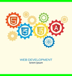 Web development gears vector