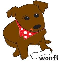 Woof vector image
