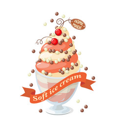 isolated currant frozen yogurt on white vector image vector image