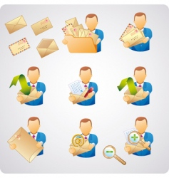 mails users vector image vector image