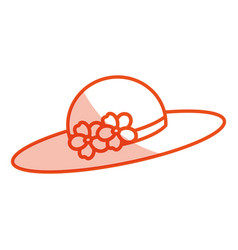 nice summer hat icon vector image