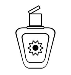 outline sun blocker cream protection solar beach vector image