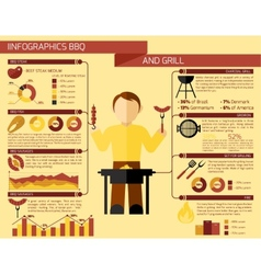 Bbq Grill Infographics vector image vector image