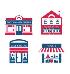 digital red blue supermarket vector image