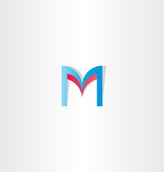 red blue letter m logotype element icon vector image