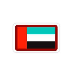 Stylish paper sticker on white background emirates vector