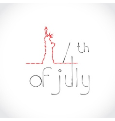 4th July Theme vector image vector image