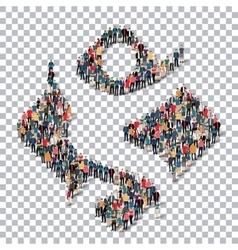 man symbol people Transparency vector image vector image