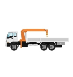 Truck mounted crane isolated on white background vector image vector image