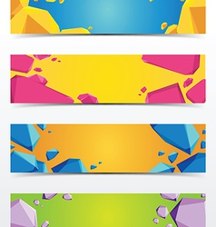 Abstract polygon banner vector