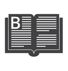 Book silhouette vector