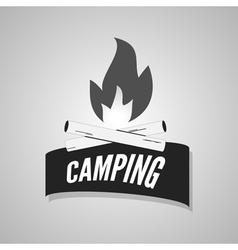 Camping bonfire logo labels and badges vector image vector image