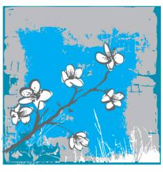 cherry blossom wall vector image vector image