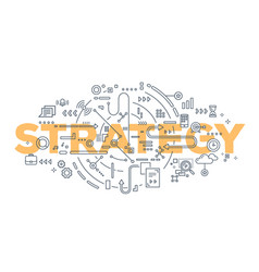 creative of strategy word lettering vector image