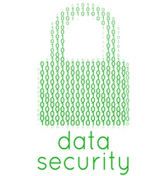 Digital Data Security Lock Text vector image