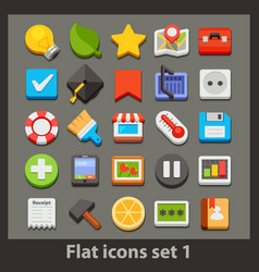 flat icon-set 1 vector image vector image