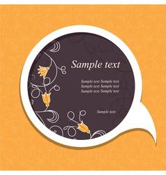 floral speech bubble4 vector image