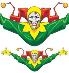 joker man vector image vector image
