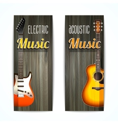 Music Banner Set vector image vector image
