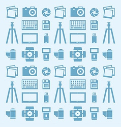 Seamless pattern Photographer vector image