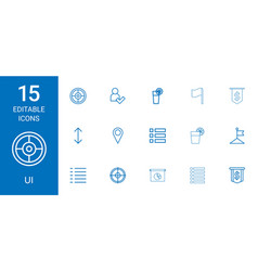 15 ui icons vector