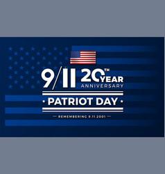 911 usa september 11 2001 conceptual for patriot vector image