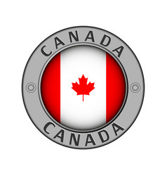 A medallion with name country canada vector