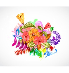 abstract colorful floral background vector image