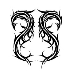Abstract hand drawn tribal tattoo design vector